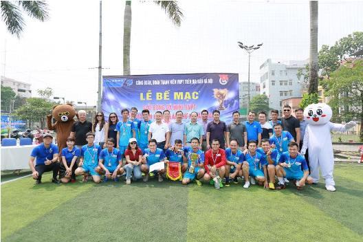 Đội bóng đá mini Công ty Cổ phần Hacisco giành chức vô địch Giải bóng đá mini VNPT Hà Nội năm 2018