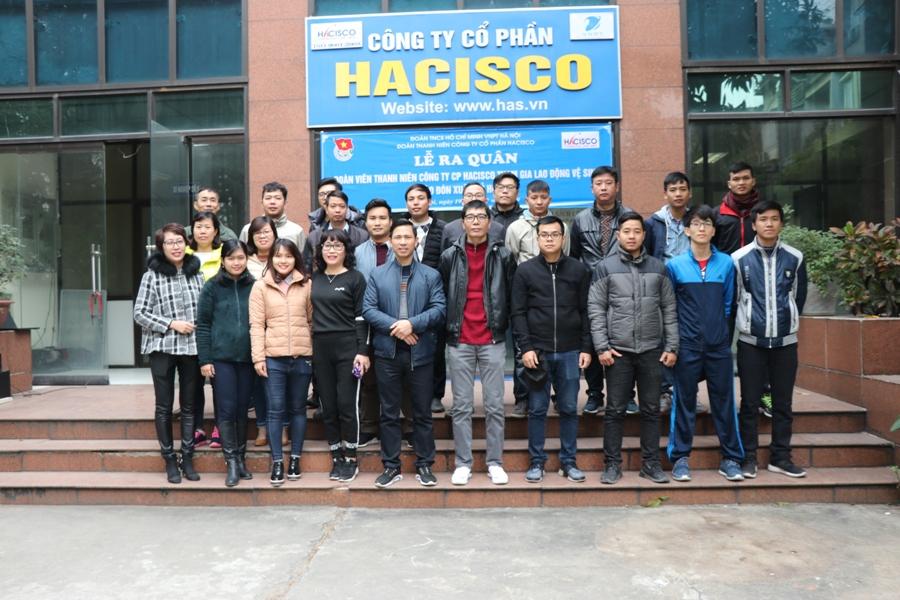Đoàn thanh niên Công ty tham gia lao động vệ sinh chào đón xuân Kỷ Hợi 2019